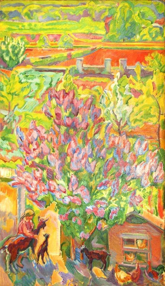 Nicolas Tarkhoff Jardin à Orsay (ar 1907) Impressionism