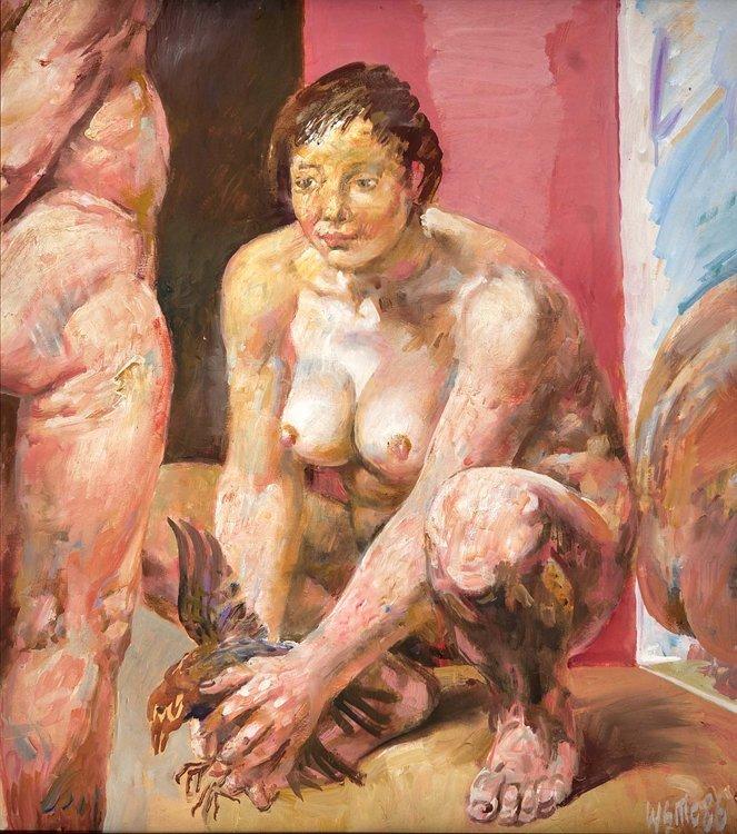Sitte, Liebespaar, Öl - Erotica