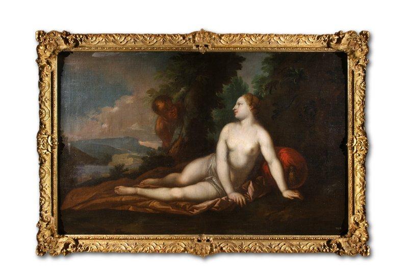 Bellucci, Nymphe, Öl - Female nude - Erotica