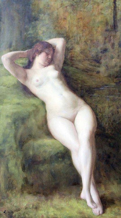 Léveque, Weibl. Akt, Öl - Female nude - Erotica