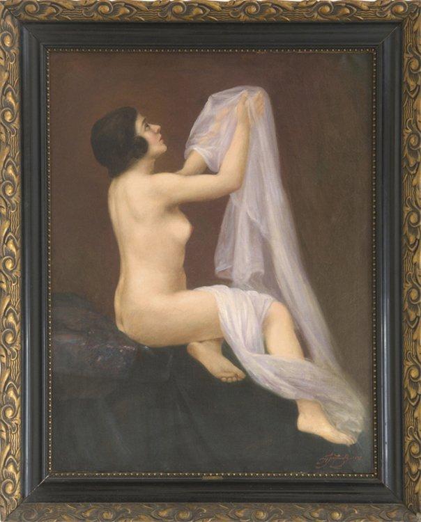 Tuzinsky, Weibl. Akt, Öl - Female nude - Erotica