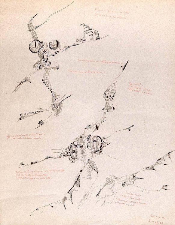 Zürn,Anagramm,Feder,1963
