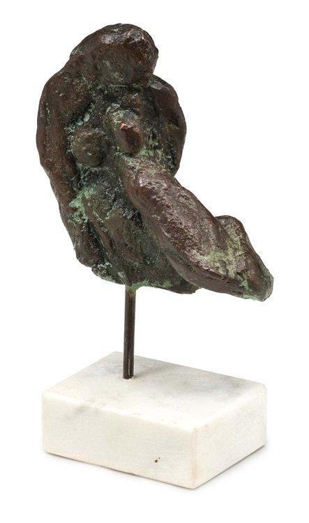 Flierl,schwebender Akt,bronze - Sculpture