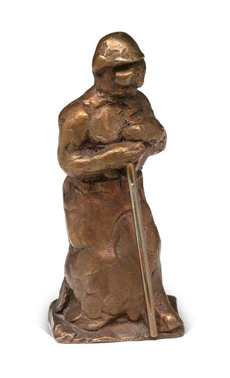 Hrdlicka, Gießer, Bronze - Sculpture