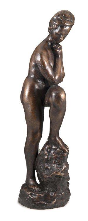 Lehmbruck, Mädchen, Bronze - Sculpture