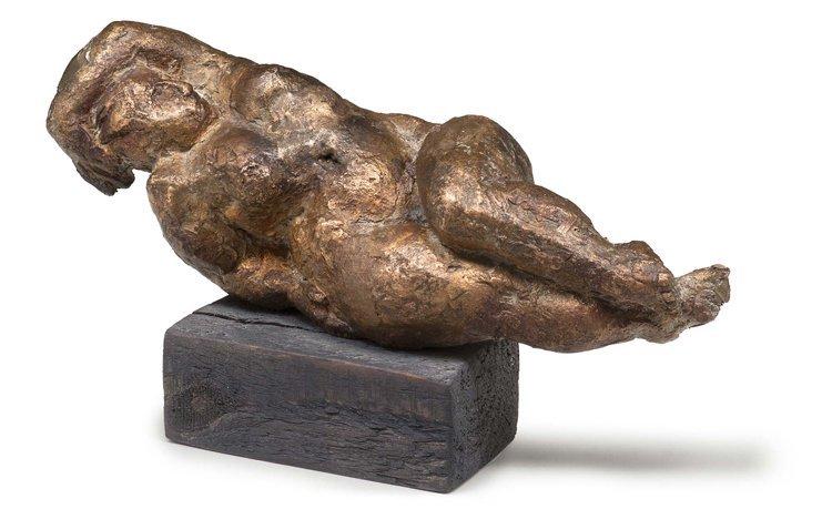 Hopfle?, Weibl. Akt, Bronze - Sculpture