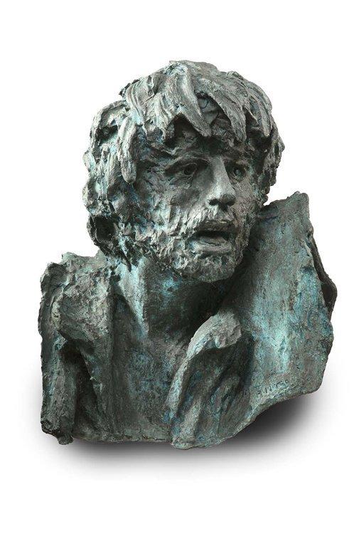 Murer, Kopf, Bronze - Sculpture