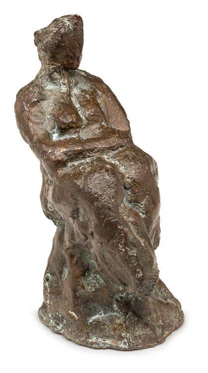 Unbekannt, Weibl. Akt, Bronze