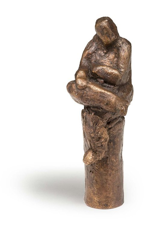 Unbekannt, Sitz. Figur, Bronze