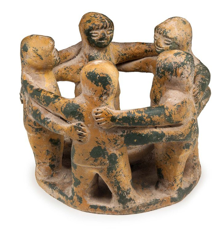 Unbekannt, Tanzreigen, Ton - Sculpture