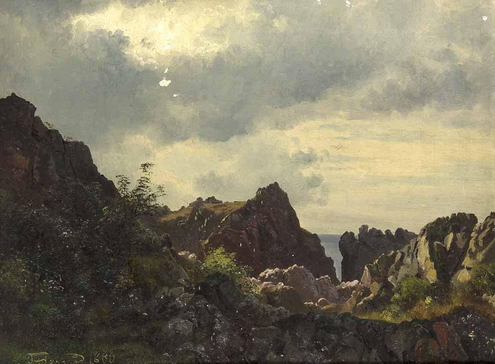 Aagaard, Carl Frederik  Landschaft mit Klippen
