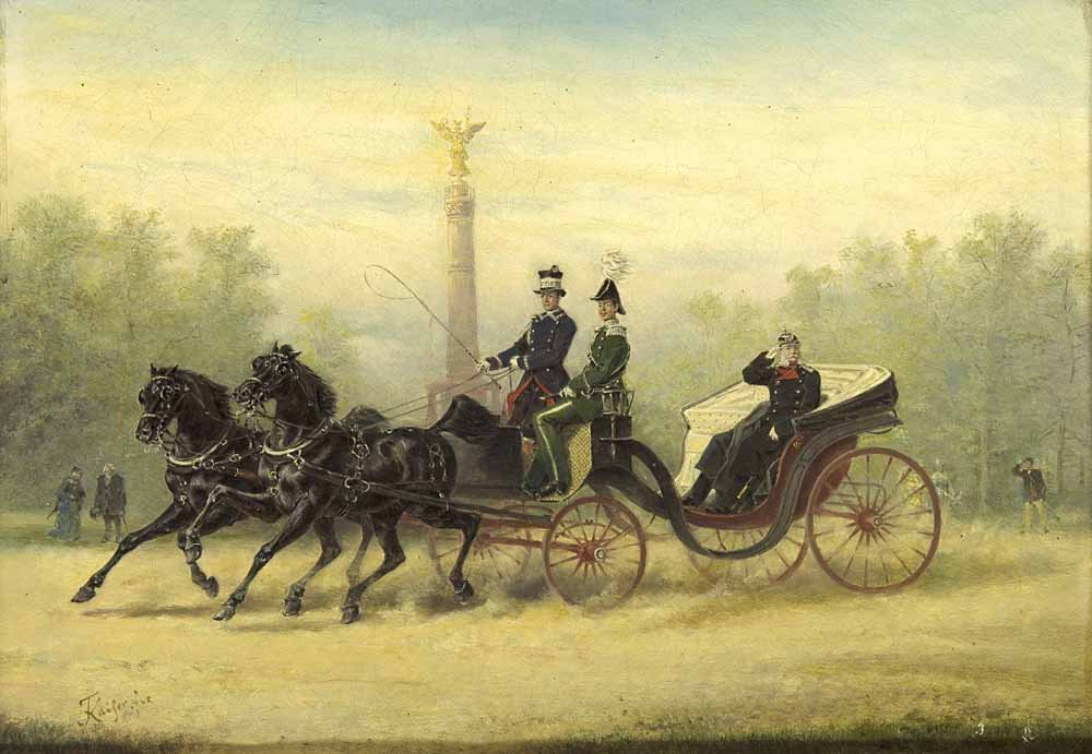 Kaiser, Friedrich  Kutschfahrt mit Kaiser Wilhelm I.