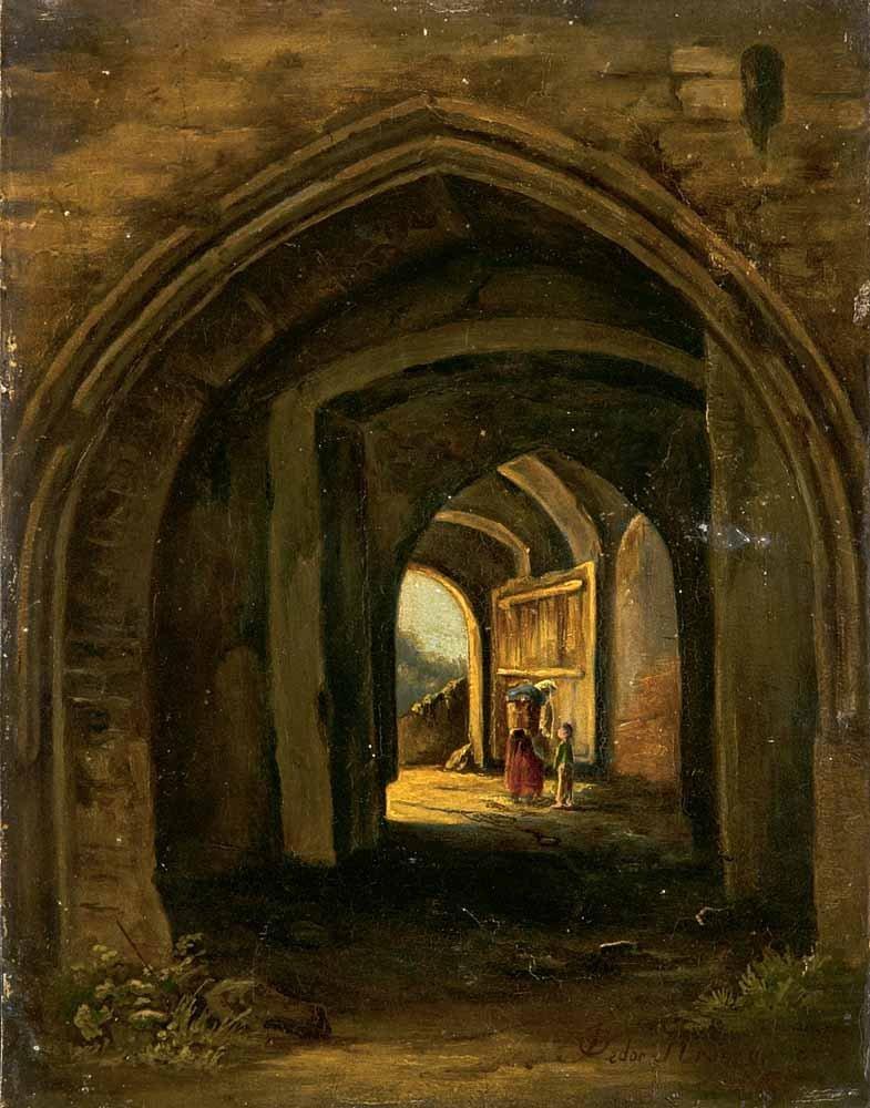 Kromer, Pedor  Zwei Figuren in einer gotischen
