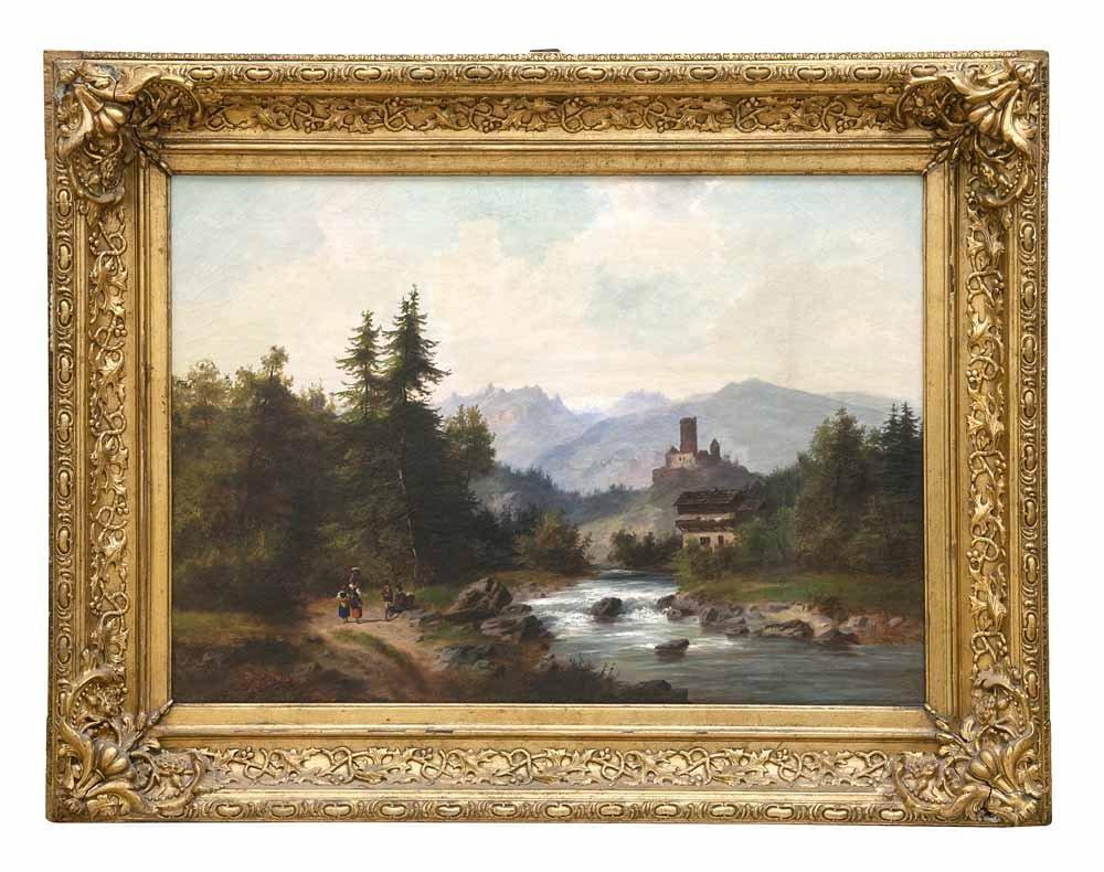 Künstler des 19. Jahrhundert  Landschaft mit