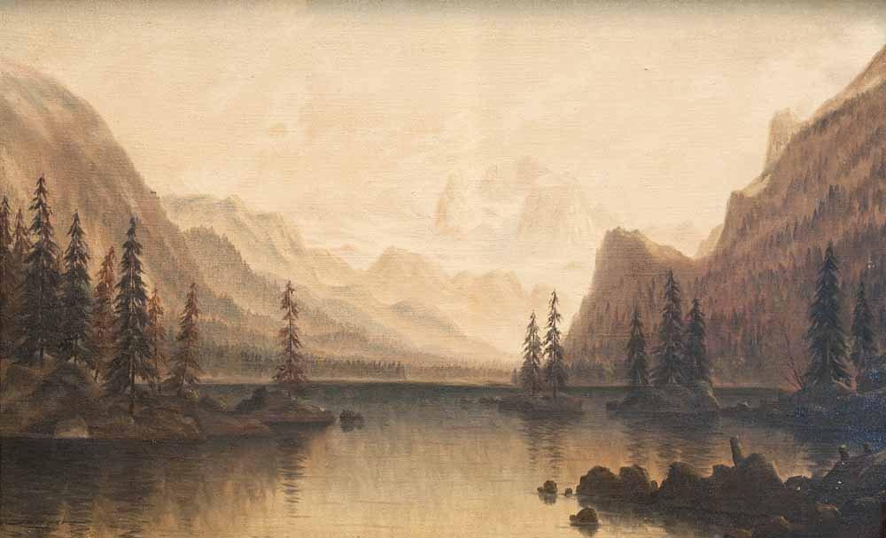 Langer, Julius  Seelandschaft. Um 1870. Öl auf