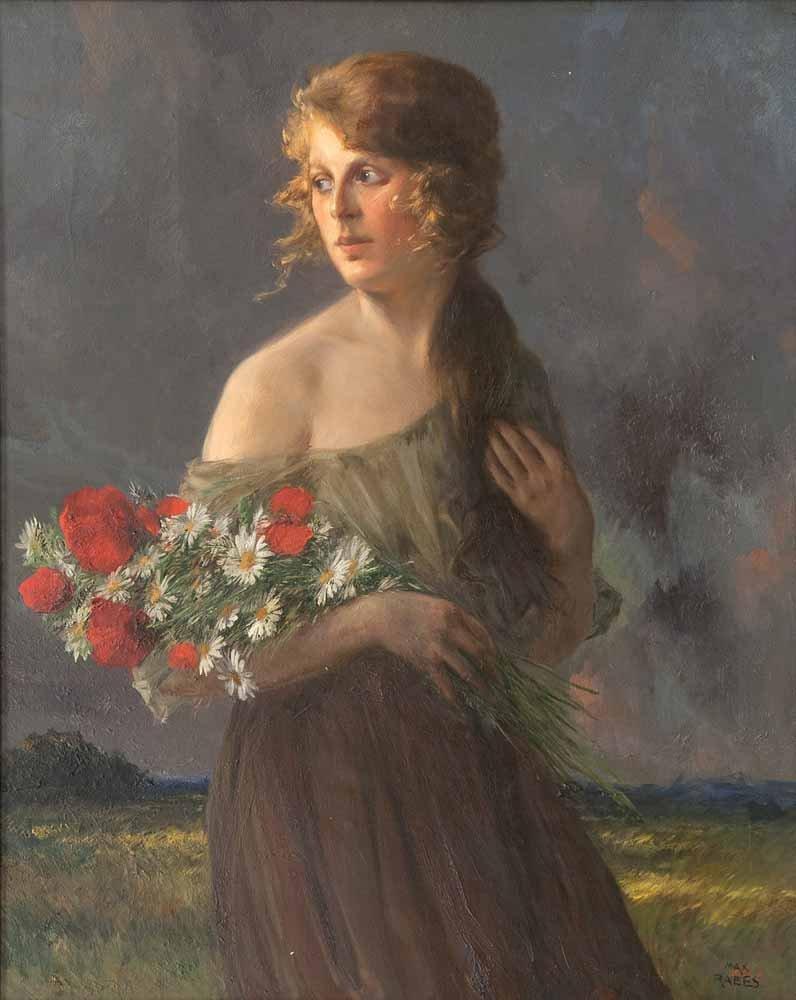 Rabes, Max Friedrich  Feldblumen (Junge Frau mit