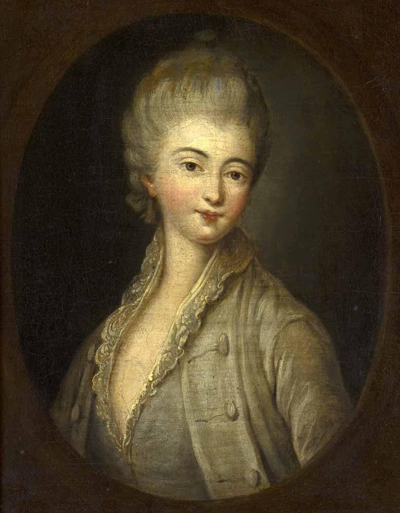 Unbekannter Künstler  Bildnis einer Dame. Französisch.