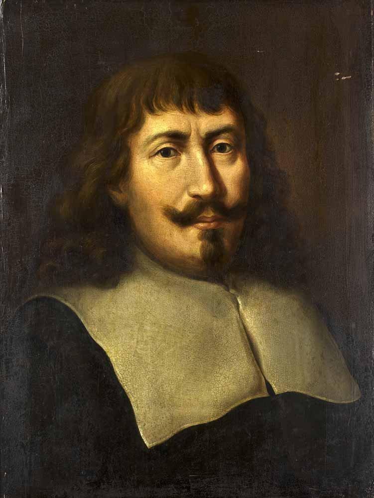 Unbekannter Künstler  Bildnis eines Mannes mit Kragen.