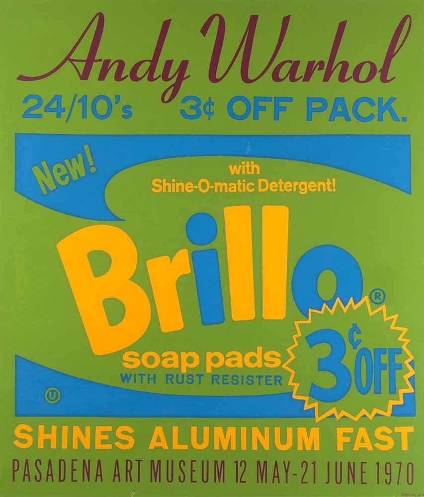 Warhol, Andy  Brillo (Plakat). 1970. Farbserigraphie