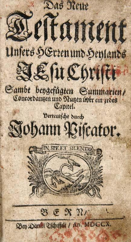 Piscator, Johann Das Neue Testament. Unsers Herzen und