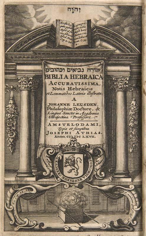 Biblia Hebraica accuratissima, notis Hebraicis et
