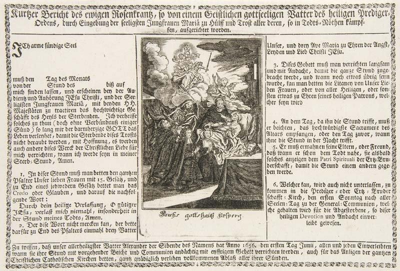 Kurtzer Bericht des ewigen Rosenkrantz, so von einem