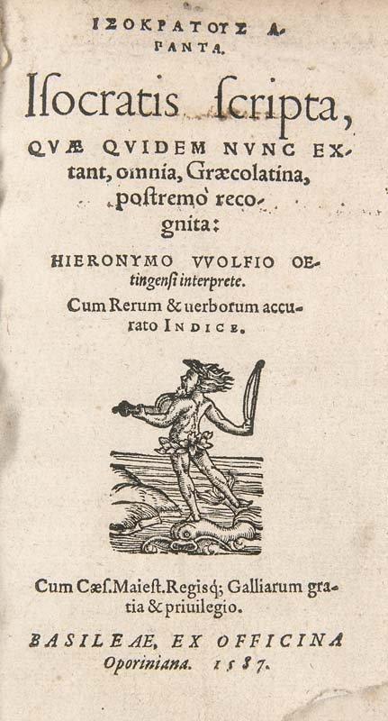 Isokrates Scripta, quae quidem nunc extant, omnia,
