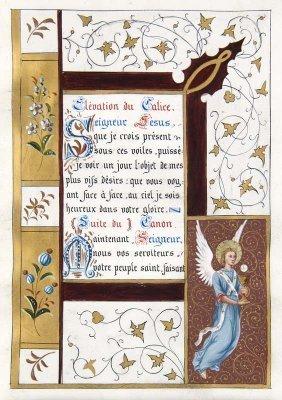 Book of Hours Miniatures Illuminated Manuscript Vellum