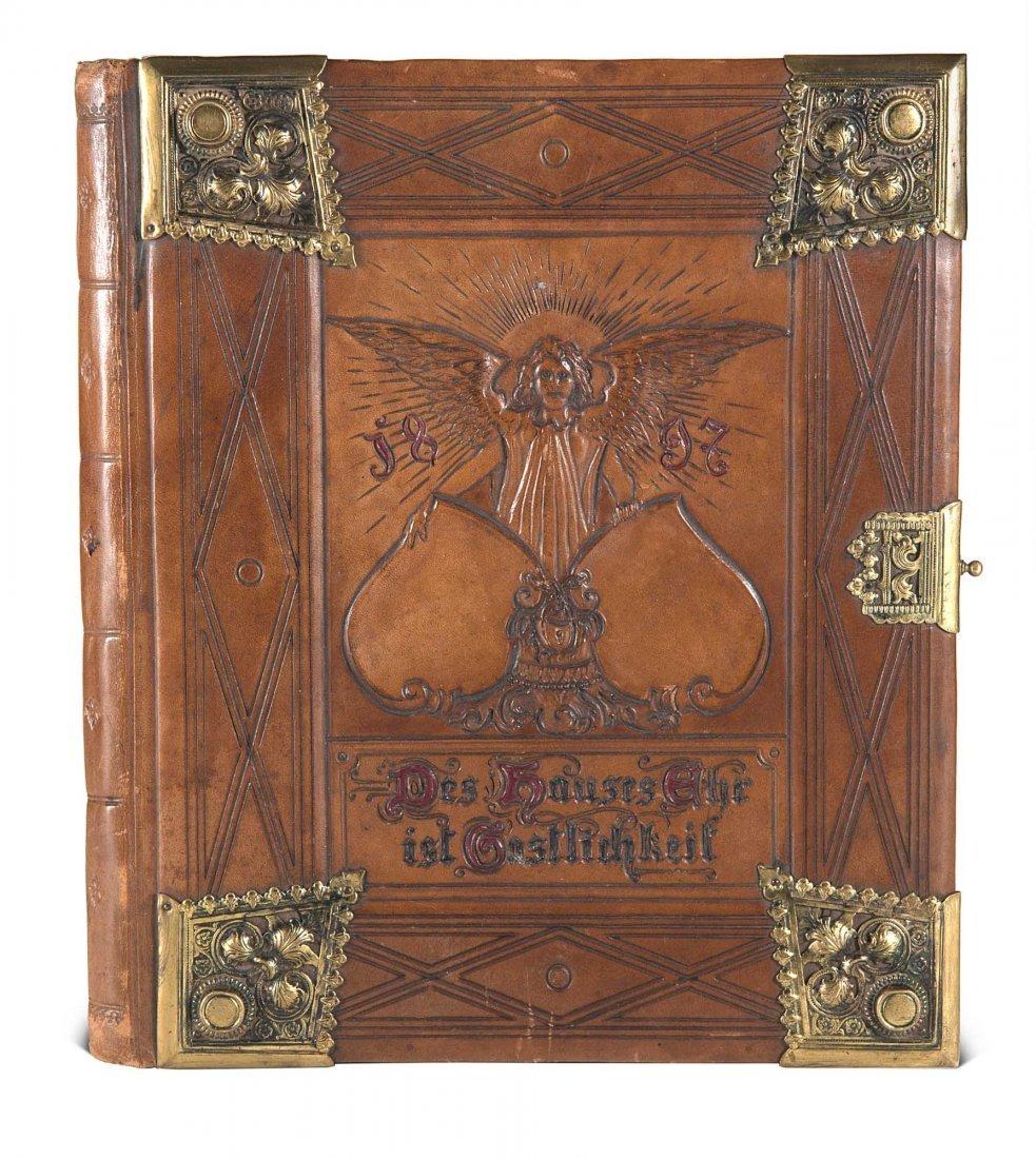 Gästebuch der Familie Bramsch auf dem Rittergut Cavert
