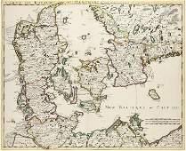 Carte du Royaume de Danemarc. Par Guill. De l'Isle