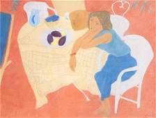 Boncompain Pierre Coin de terasse 1999 Pastellkreide