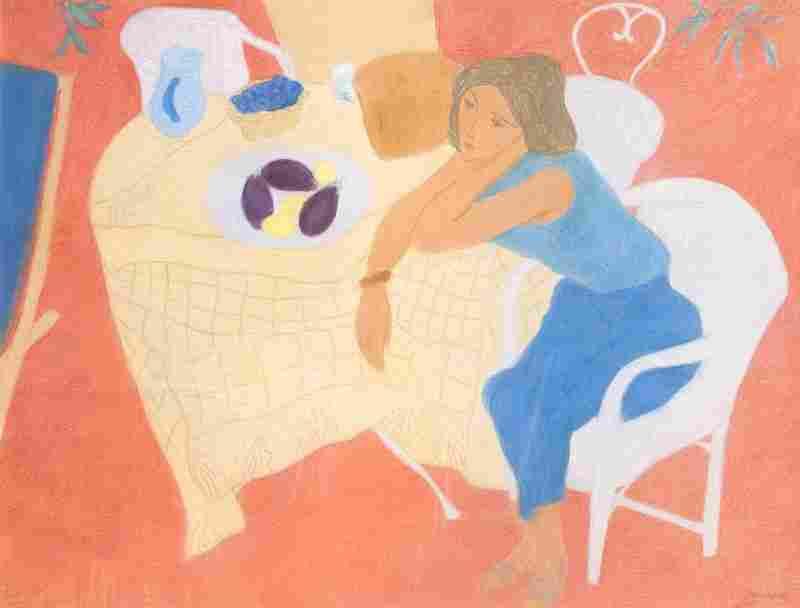 Boncompain Pierre Coin de terasse. 1999. Pastellkreide