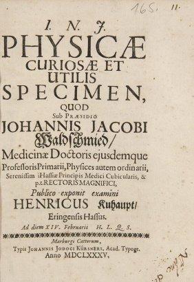Waldschmidt, Johann Jakob U. Heinrich Kuhaupt Physicae