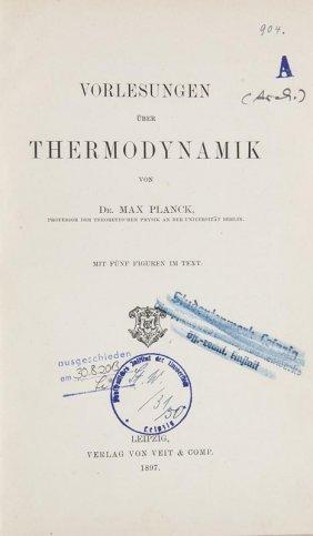 Planck, Max Vorlesungen über Thermodynamik. Mit 5