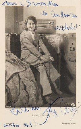Sammlung Von 65 Photogr. Abbildungen Von Lilian Harvey,