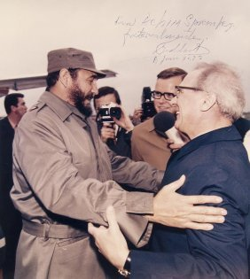 Spremberg, Joachim Zwei Pressephotographien Von Fidel