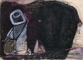 Chevalier, Peter O.t. 1988. Mischtechnik Auf Papier. 43