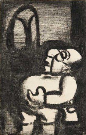 Rouault, Georges Le Pre Ubu Chantre. 1918/1928.