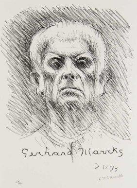 Marcks, Gerhard Selbst 2 Ix 73. 1973. Lithographie Auf