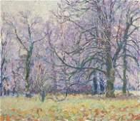 Burmester, Georg Rauhreif n(ach) Nebel. Um 1910. �l auf
