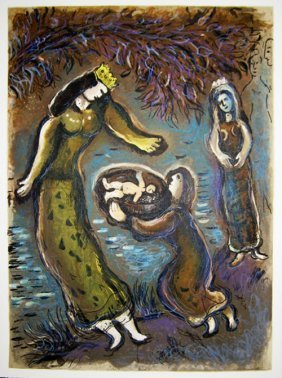 Marc Chagall - Then The Daughter Of Pharaoh Opened T
