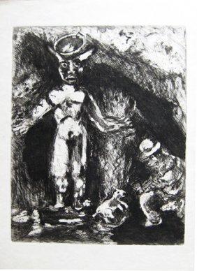 Marc Chagall - L�Homme Et L�idole De Bois