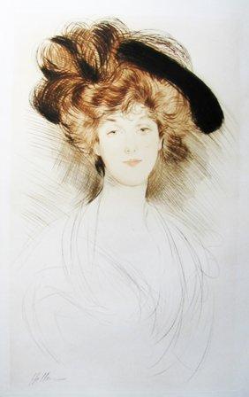 17: Paul Caesar Helleu - Facing portrait of a woman