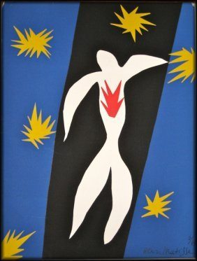 24: after Henri Matisse - The Fall of Icarus