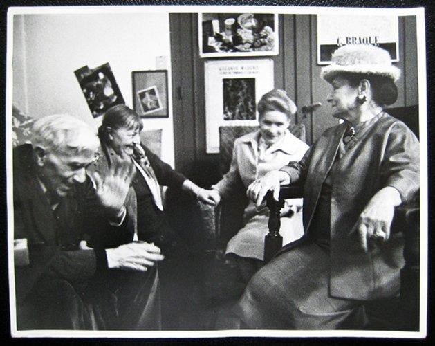 George Braque with three ladies