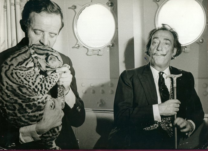 Dali and Captain Moore with an Ocelot