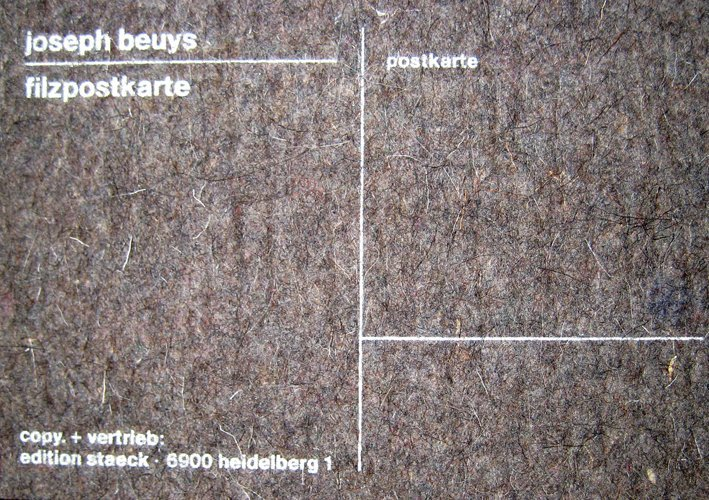 Joseph Beuys - Holzpostkarte & Filzpostkarte (3 items)