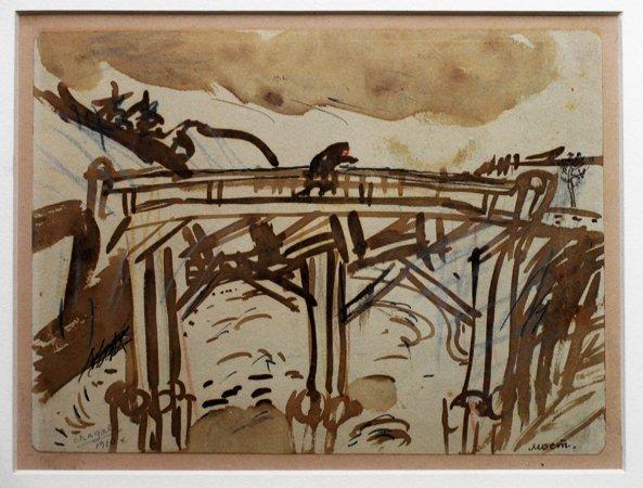Marc Chagall - The Bridge