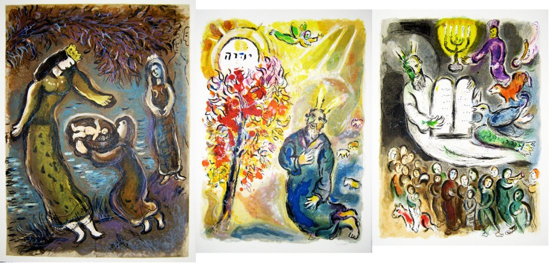 Marc Chagall -  7 plates from the Exodus suite