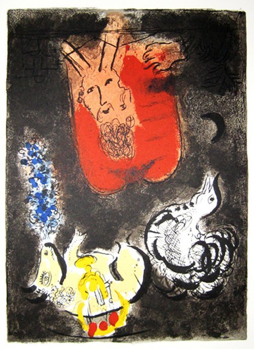Marc Chagall -  3 plates from the Exodus suite